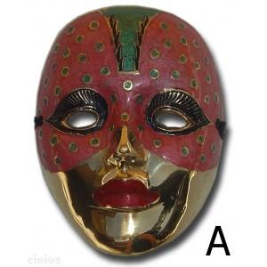 großen Maske in Metall