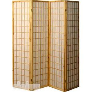 Separè - Paravent Tatami Modell, natürliche Farbe Rahmen