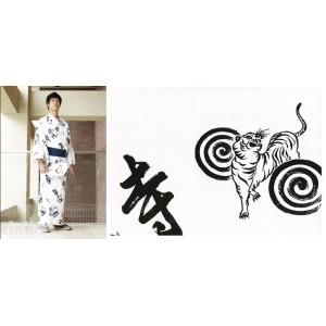 Kimono Yukata - Mann Weiß