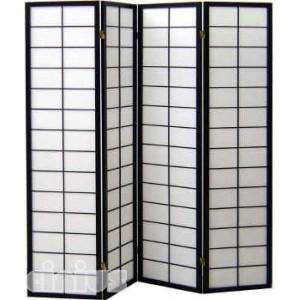 Separè - Paravent Modell Nanji Rahmen schwarz