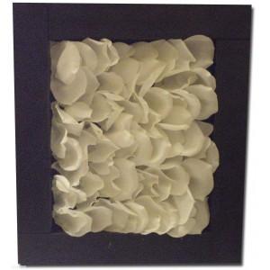 Rahmen Blütenblätter weiss  japanischer Malerei 45*40