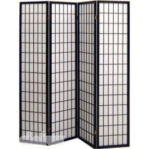 Separè - Paravent Tatami-Modell, Rahmen schwarz